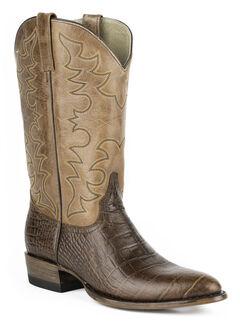 Roper Croc Print Tall Cowboy Boots - Round Toe, , hi-res