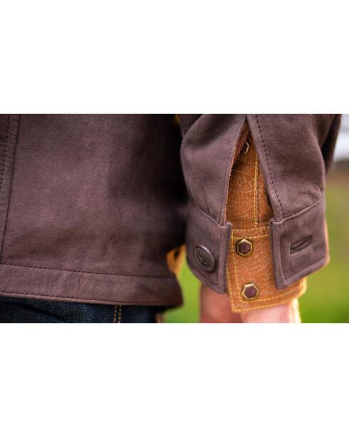 Ryan Michael Men's Brown Tumbled Suede Coat , Brown, hi-res