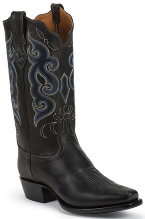 Tony Lama Signature Series Rista Calf Cowboy Boots - Square Toe, Black, hi-res