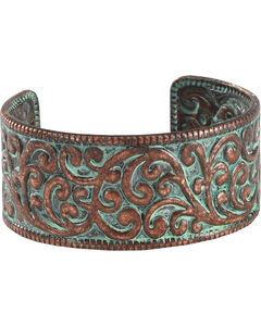 Shyanne Women's Copper Patina Cuff Bracelet, Bronze, hi-res
