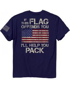 Buck Wear Men's Navy Pack It Short Sleeve Tee , Navy, hi-res