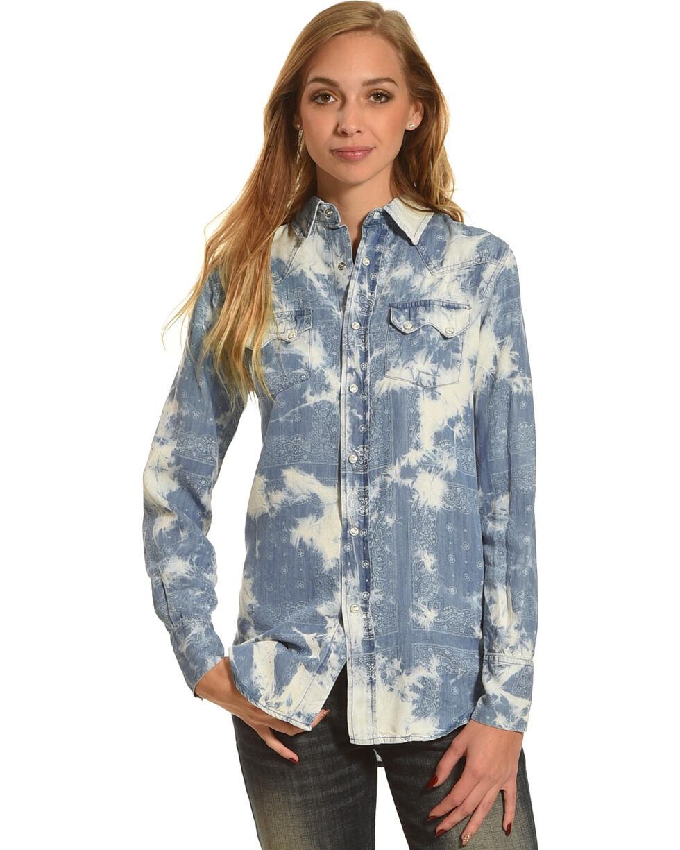 Tasha Polizzi Women's Eden Tie Dye Shirt, Blue, hi-res