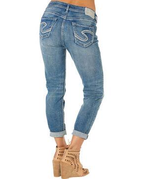 Silver Women's Boyfriend Jeans , Denim, hi-res