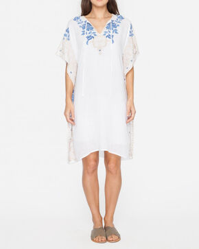3J Workshop by Johnny Was Women's White Theda Effortless Kaftan, White, hi-res