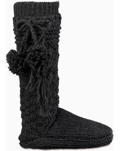 UGG Women's Charcoal Cozy Slipper Socks , Charcoal, hi-res