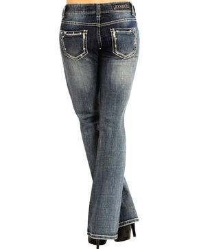 Rock & Roll Cowgirl Women's Indigo Low-Rise Jeans - Boot Cut , Indigo, hi-res