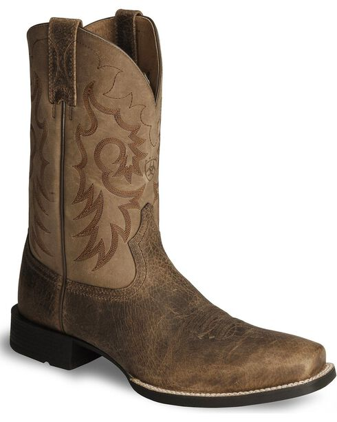 Ariat Heritage Reinsman Cowboy Boots - Square Toe, Earth, hi-res