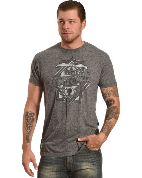 Moonshine Spirit Men's White Lightening Graphic Tee , Charcoal, hi-res
