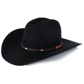 Cody James Lamarie Wool Felt Cowboy Hat, Black, hi-res