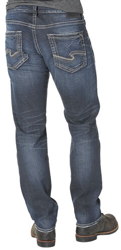 Silver Men's Eddie Relaxed Fit Tapered Leg Jeans , , hi-res
