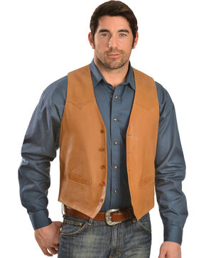 Scully Lamb Leather Vest - Big, Tan, hi-res