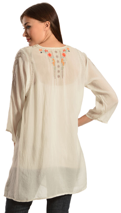 Johnny Was Women's Cynthia Blouse, Eggshell, hi-res