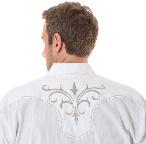 Wrangler Rock 47 Men's White Embroidered Shirt, White, hi-res