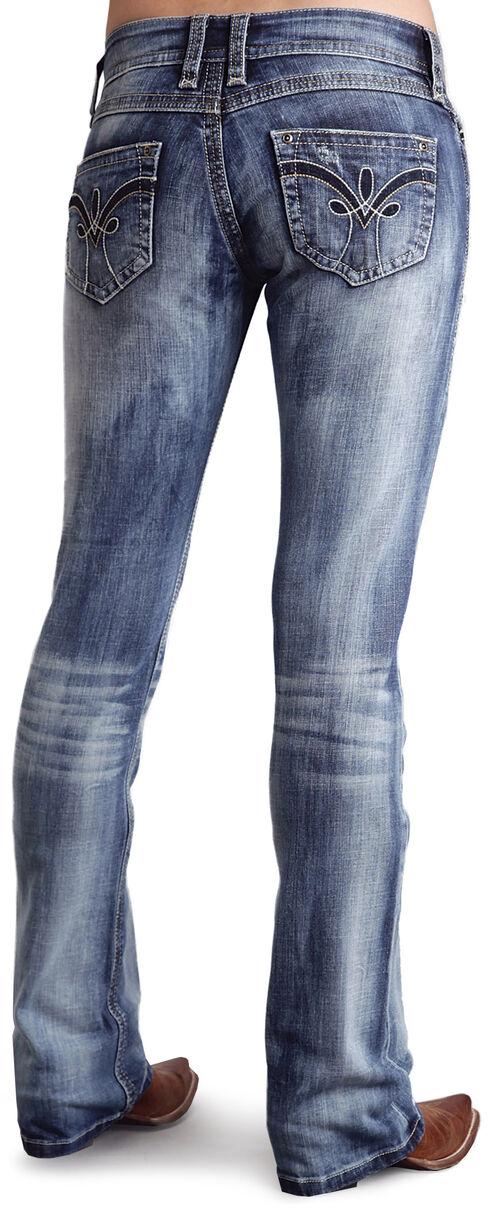 Stetson Women's 818 Fit Contemporary Deco Bootcut Jeans, Denim, hi-res