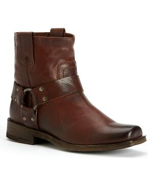 Frye Women's Smith Harness Short Boots - Square Toe, Brown, hi-res