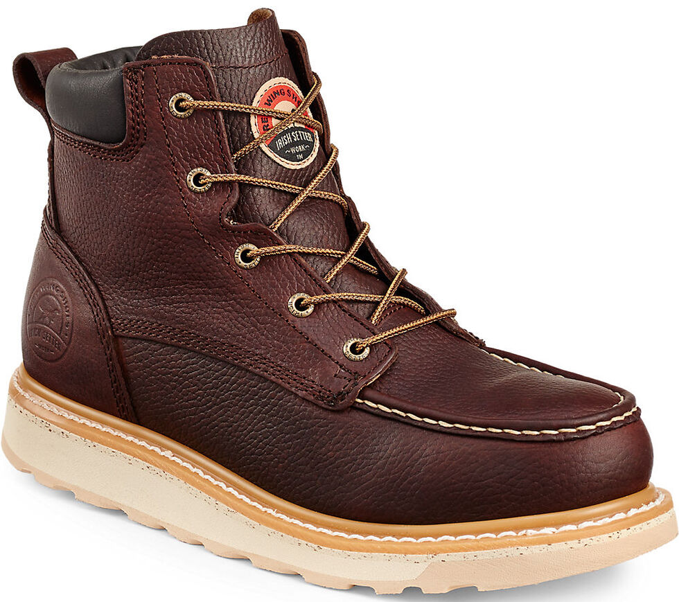 "Irish Setter by Red Wing Shoes Men's Ashby 6"" Work Boots - Round Toe , Brown, hi-res"