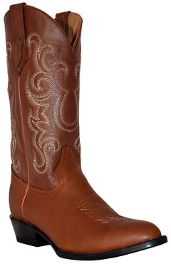 Ferrini Men's French Calf Leather Cowboy Boots - Round Toe, , hi-res