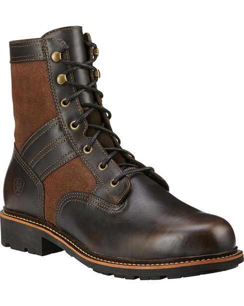 Ariat Easy Street Men's Lace Up Boots, Bronze, hi-res