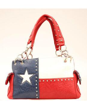 Blazin Roxx Texas Flag Satchel, Red, hi-res