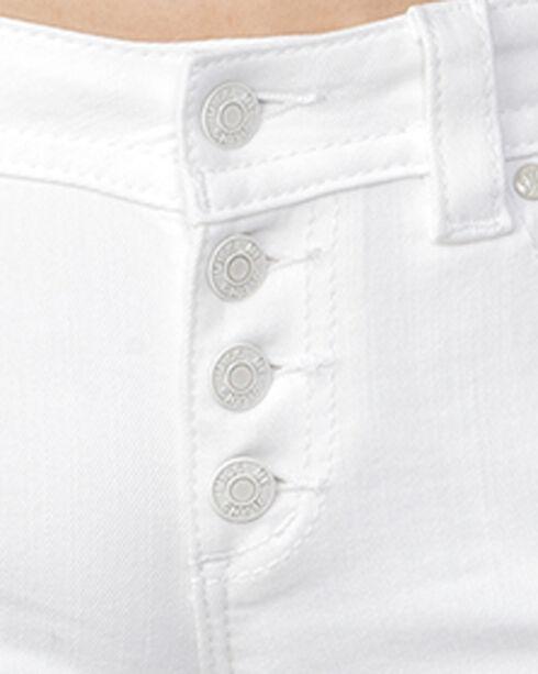 Miss Me Women's White Mid-Rise Shorts, White, hi-res