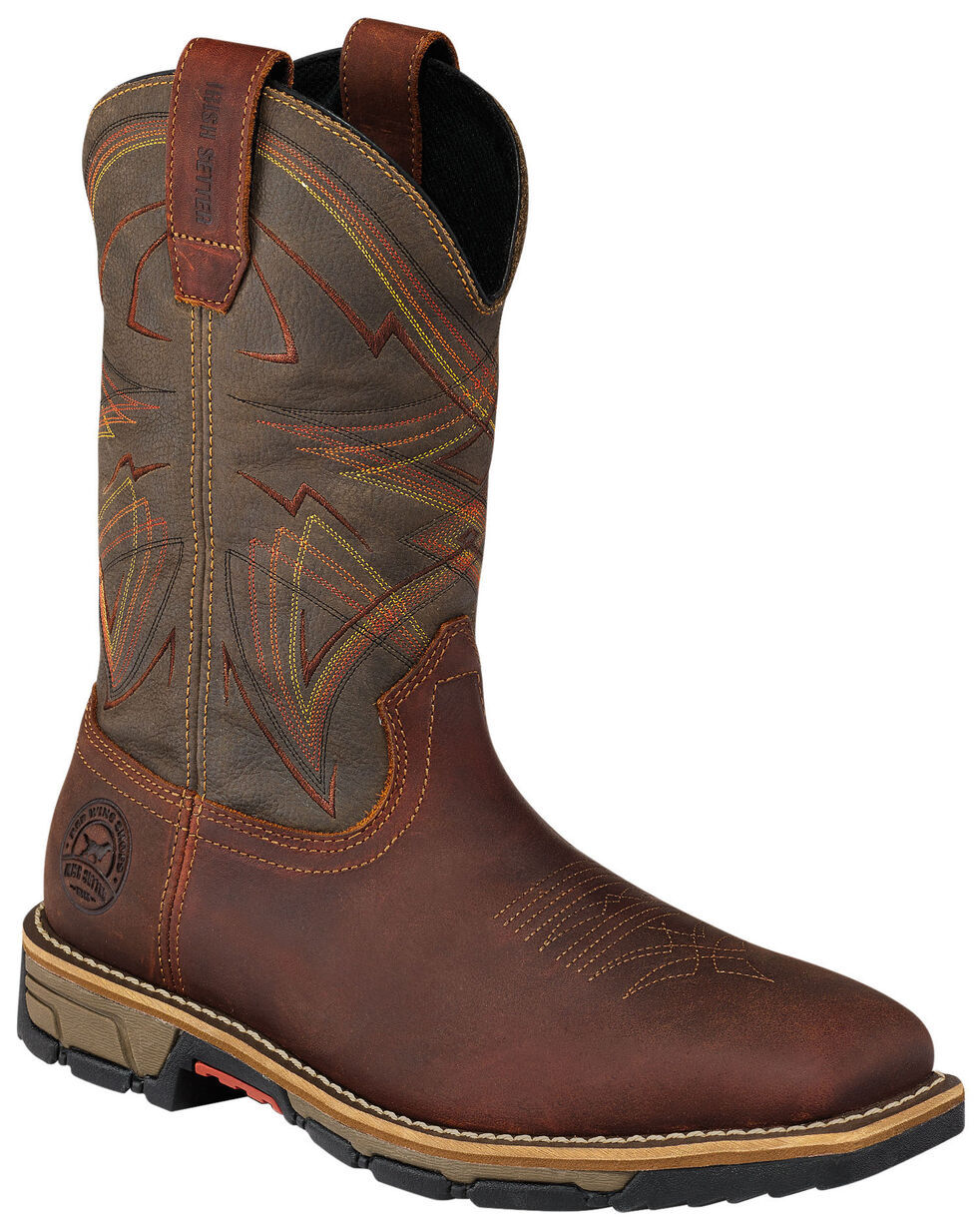 Irish Setter by Red Wing Shoes Men's Marshall Olive Green Work Boots - Soft Square Toe  , Brown, hi-res