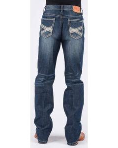 Stetson Men's 1520 Standard Fit Jeans - Straight Leg, Blue, hi-res