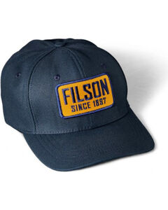 Filson Men's Embroidered Patch Logger Cap, Navy, hi-res