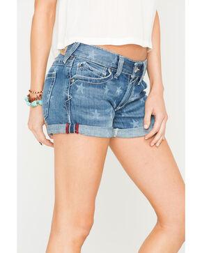 Ariat Women's Star Laser Boyfriend Shorts, Blue, hi-res