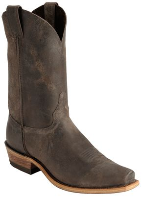 Justin Distressed Cowboy Boots - Narrow Square Toe, Chocolate, hi-res