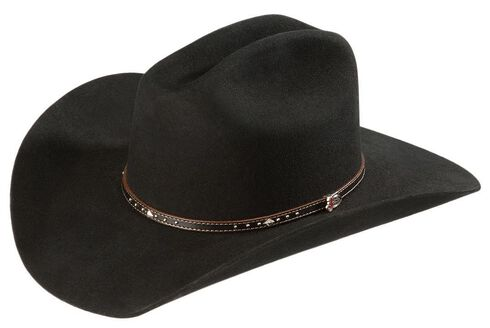 Justin 2X Black Hills Wool Cowboy Hat, Black, hi-res