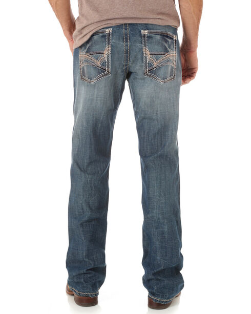 Wrangler Rock 47 Men's Indigo Layton Slim Fit Jeans - Boot Cut , Indigo, hi-res