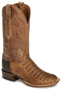 Lucchese Handcrafted Waxy Hornback Caiman Cowboy Boots - Square Toe, , hi-res