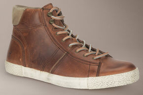 Frye Bedford Suede High Tops, Cognac, hi-res