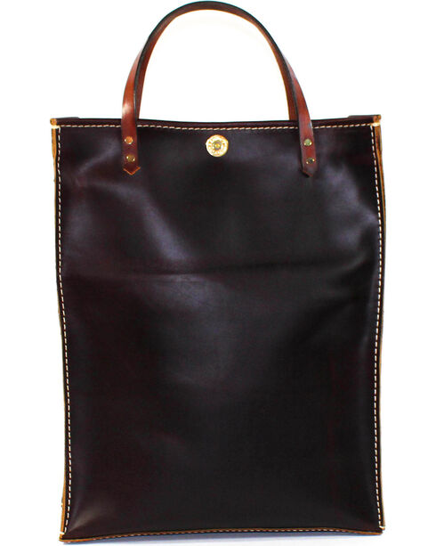 SouthLife Supply Plum Leather Magazine Tote, Dark Brown, hi-res