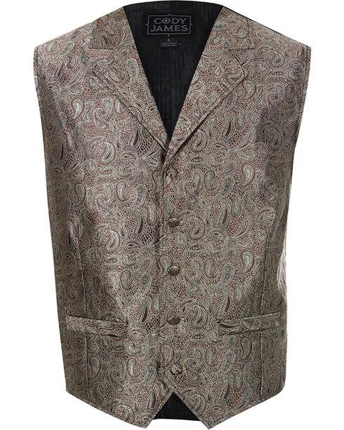 Cody James Men's Paisley 5-Button Vest, Brown, hi-res