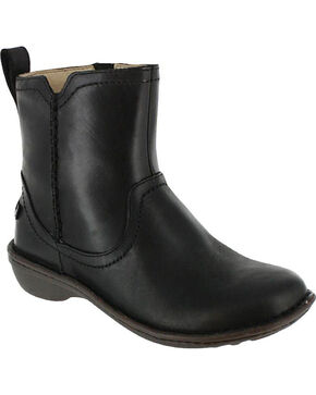 UGG Women's Black Neevah Short Boots - Round Toe , Black, hi-res