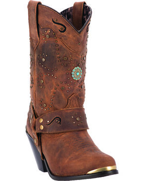 Dingo Rashida Women's Western Strap Boots, Tan, hi-res