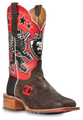 Cinch Edge Leon Cowboy Boots - Square Toe, Black, hi-res