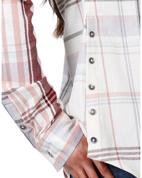 Shyanne Women's Plaid Embroidered Long Sleeve Shirt , Multi, hi-res