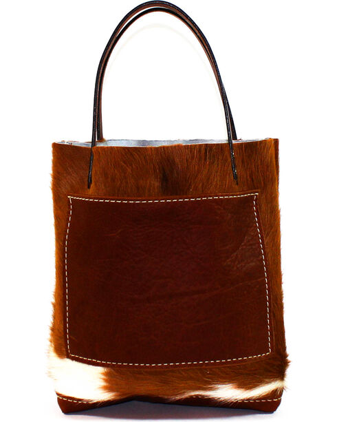 SouthLife Supply Women's Cowhide Small Unstructured Tote, Multi, hi-res