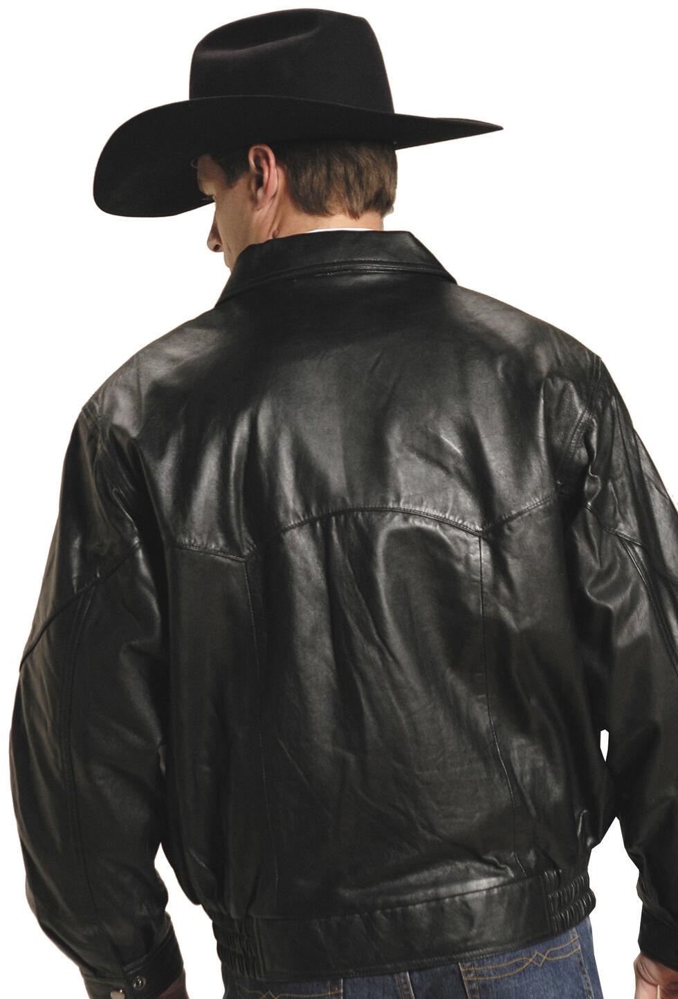 Roper Lamb Touch Nappa Bomber Jacket, Black, hi-res