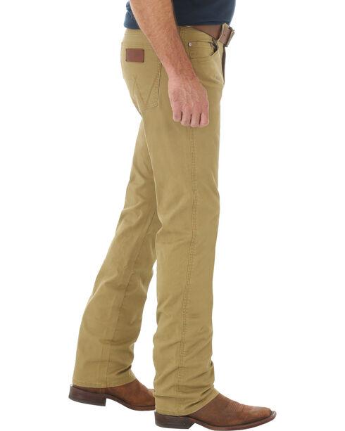 Wrangler Retro Slim Fit Straight Leg Khaki Jeans - Big and Tall, Tan, hi-res