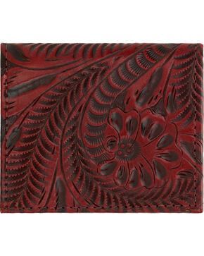 American West Boyfriend Ladies Crimson Bi-Fold Wallet, Crimson, hi-res