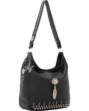 American West Women's Dream Catcher Zip-Top Handbag, Black, hi-res