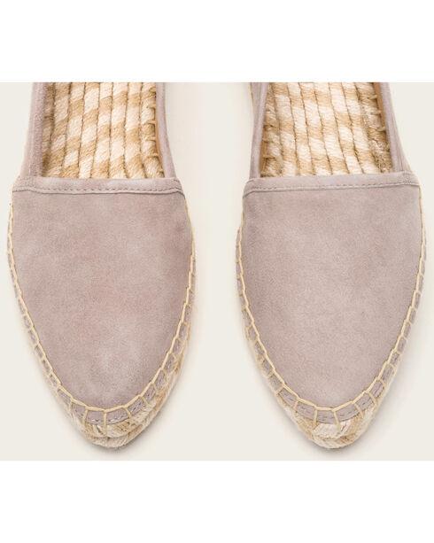 Frye Women's Grey Suede Lee A Line Slip-Ons, Grey, hi-res