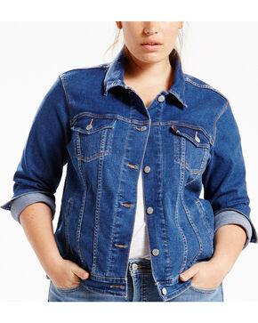 Levi's Women's Blue Flight Original Trucker Jacket - Plus Size, Indigo, hi-res