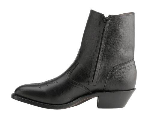 Boulet Western Zipper Boots - Round Toe, Black, hi-res