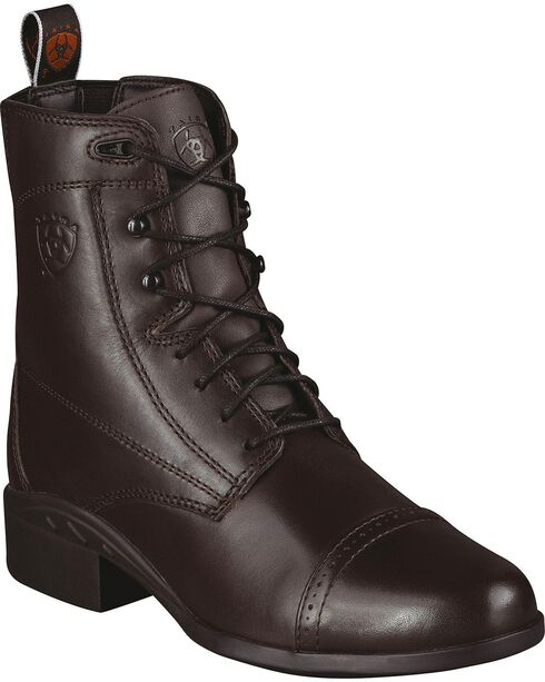 Ariat Heritage Paddock Riding Boots - Round Toe, Chocolate, hi-res