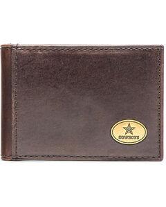 Jack Mason Men's Dallas Cowboys Legacy Flip Bifold Wallet , Brown, hi-res