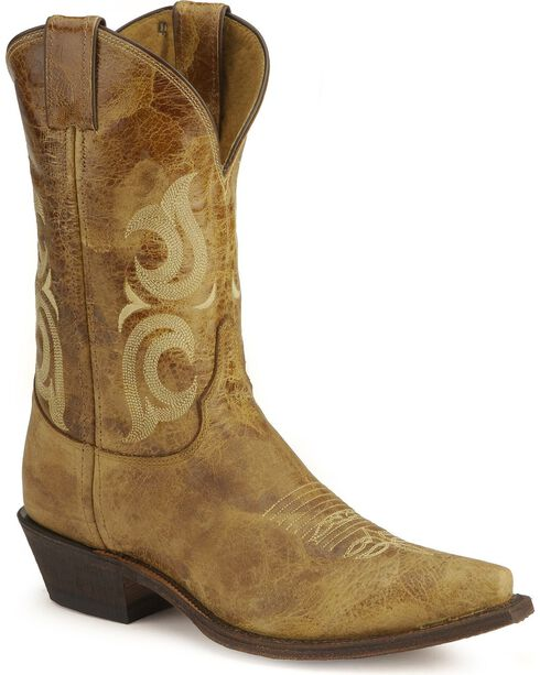 Justin Bent Rail Cowboy Boots - Pointed Toe, Tan, hi-res
